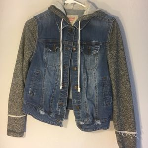 Women's Jean Jacket Cloth Sleeves